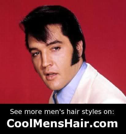 Image of Elvis Presley sideburns style.