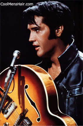 Pictures of Elvis Presley mutton chop sideburn for men.