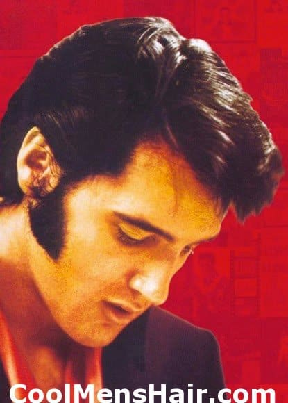Picture of Elvis Presley sideburns.