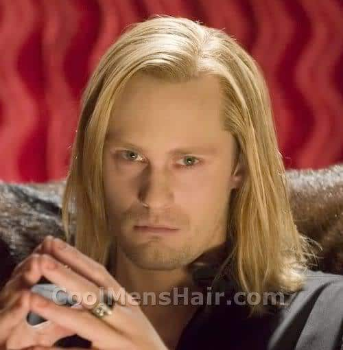 Image of Eric Northman blond hairstyle.