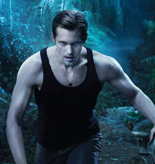 Picture of Eric Northman vampire hairstyle in True Blood season 3.