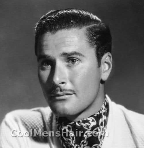 Photo of Errol Flynn hairstyle.