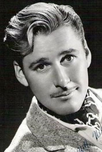 Photo of Errol Flynn with the Pencil moustache.