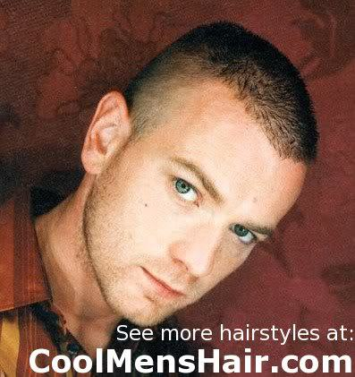 Photo of Ewan McGregor crew cut.