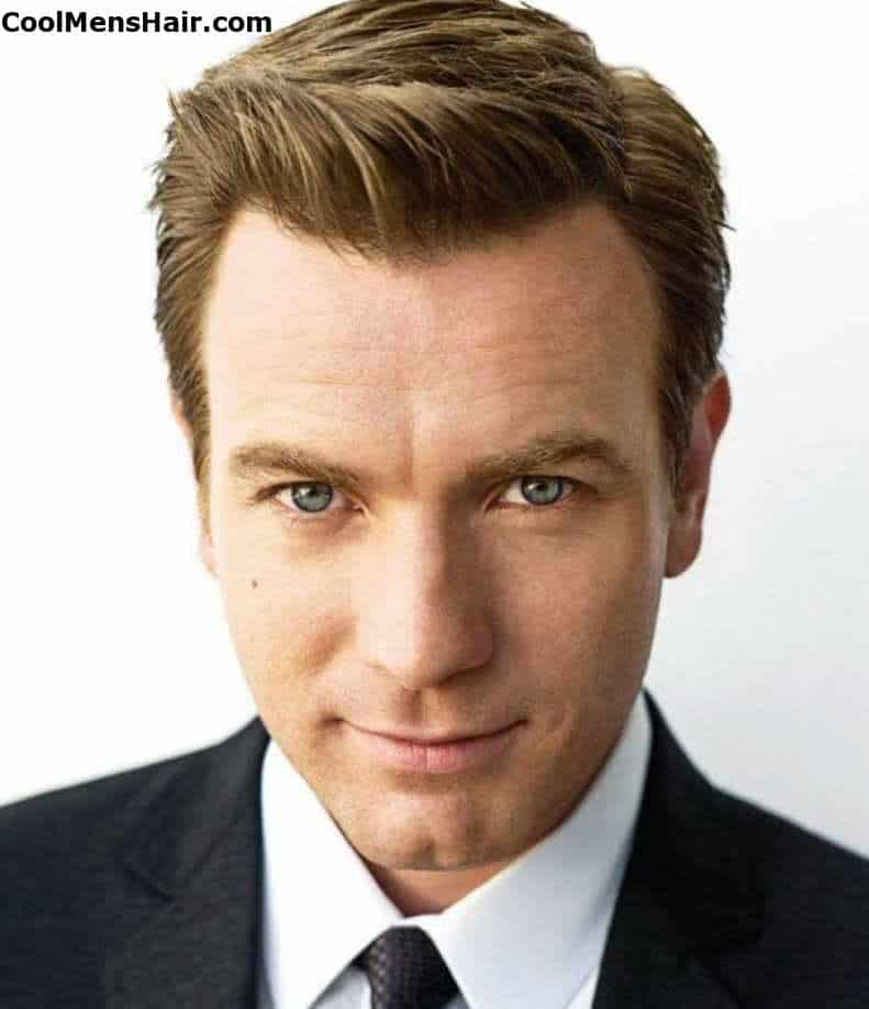 Picture of Ewan McGregor formal hairstyle.