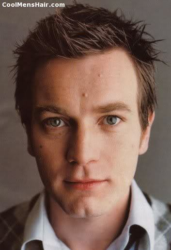 Image of Ewan McGregor spiky hairstyle.