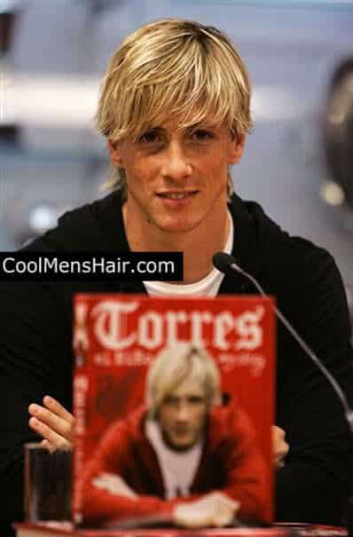 Image of Fernando Torres layered hairstyle for men.