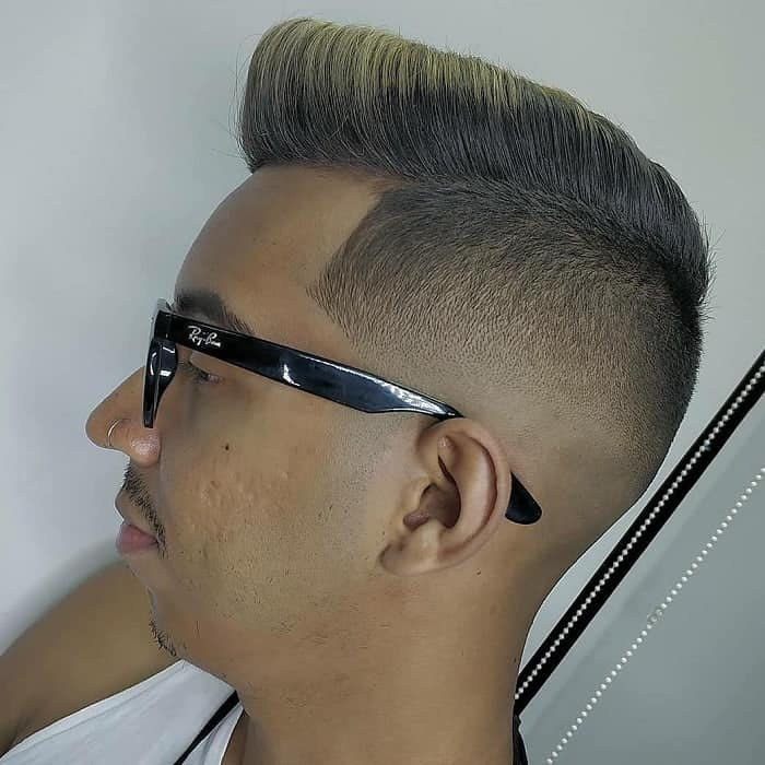 guy with flat top fade haircut