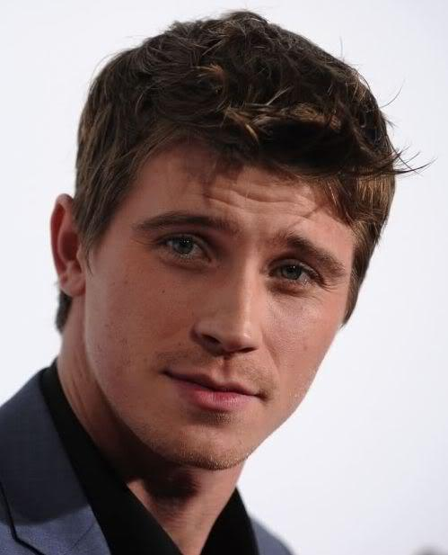 Picture of Garrett Hedlund brushed forward hairstyle.