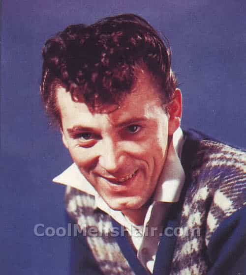 Photo of Gene Vincent Rock and Roll hairstyle.