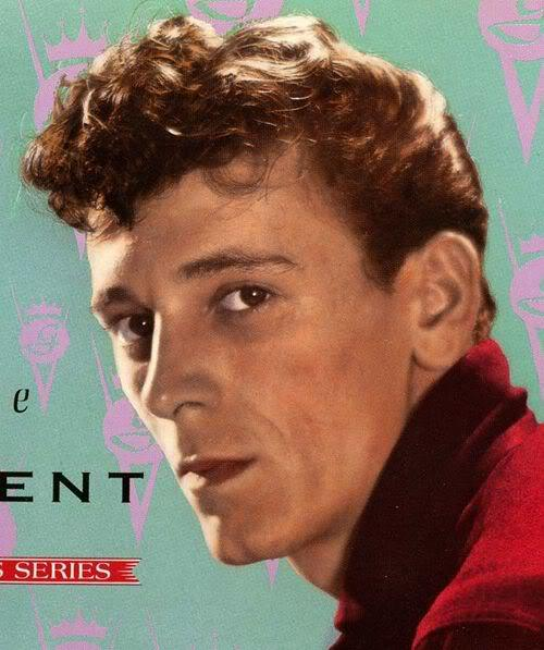 Image of Gene Vincent rockabilly hairstyle.