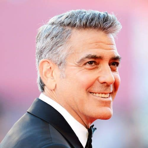 george clooney's popular hairstyles