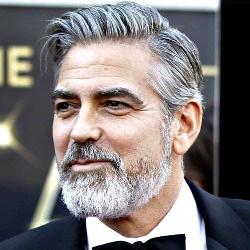 george clooney's cool hairstyle