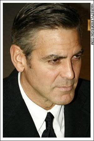 George Clooney Hollywood hairstyle.