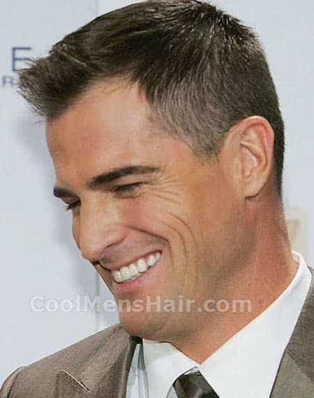 Image of George Eads ivy league clean cut formal hairstyle for men.