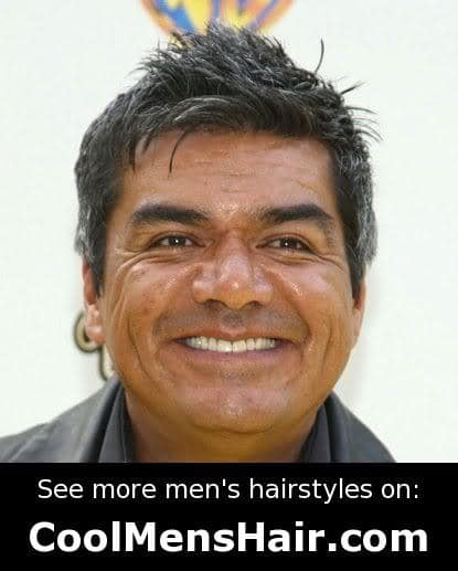 Image of George Lopez mussed hairstyle.