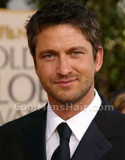 Gerard Butler Hairstyle For Round Face Shape.