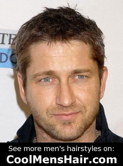 Photo of Gerard Butler hairstyle for guys.