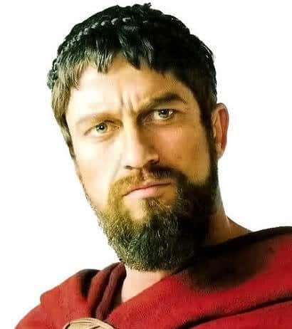 Photo of King Leonidas caesar hairstyle.