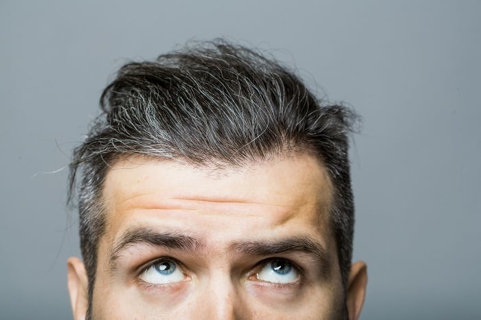 remove yellow from gray hair
