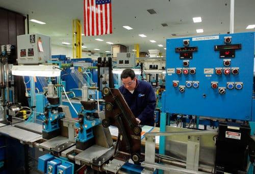 Photo of Gillete's factory in Boston, Massachusetts.