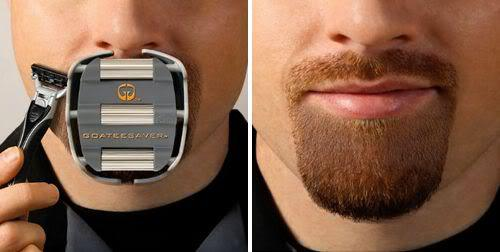 Shape and form goatee using GoateeSaver.