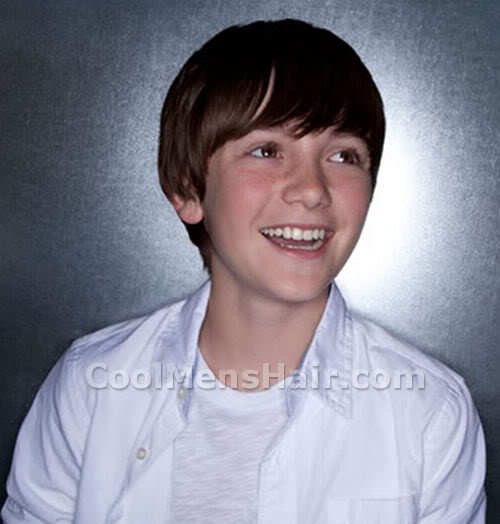 Picture of Greyson Chance bangs hairstyle.