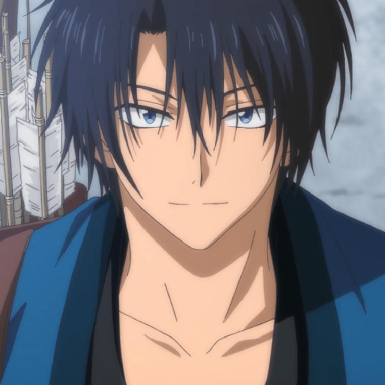 Anime boy black haircut
