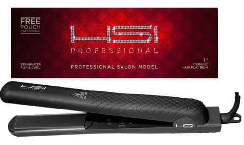 "HSI 1"" Ceramic Tourmaline Ionic Flat Iron Hair Straightener."