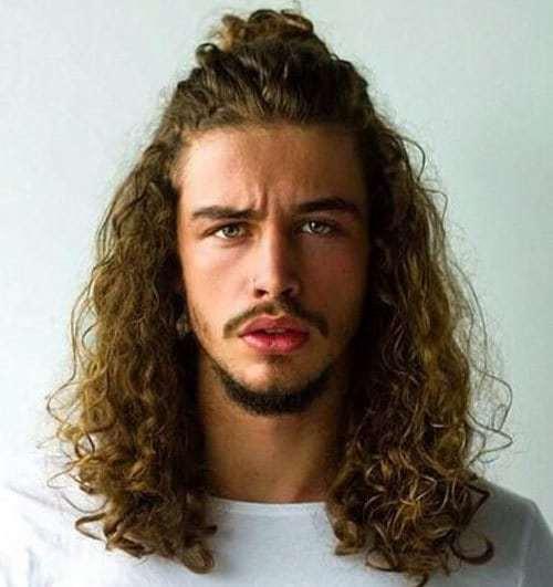 Wavy Long Curly Hairstyles Men 78