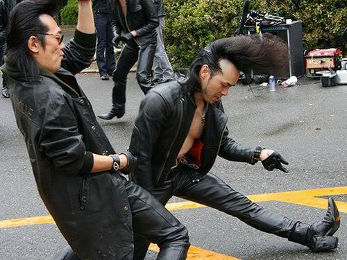 Harajuku black shadow dancers photo.