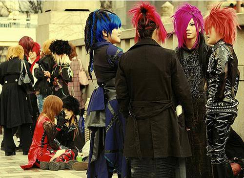 Image of Harajuku cosplayers.