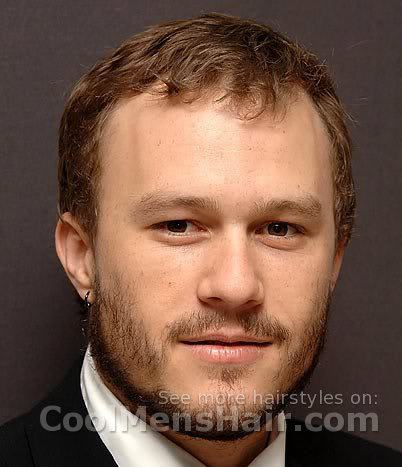 Heath Ledger short hairstyle.