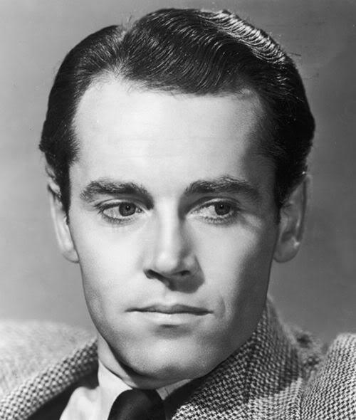 Henry Fonda classic slick formal hairstyle for men.