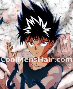 Hiei spike hairstyle.