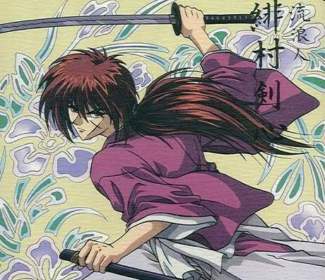Image of Himura Kenshin hairstyle.