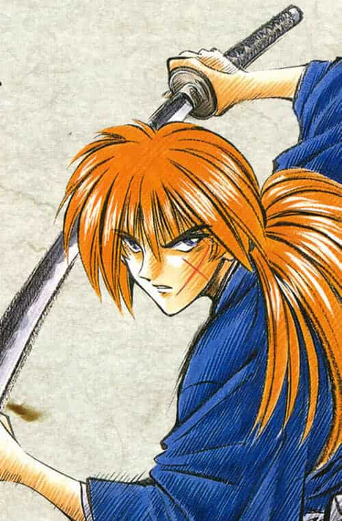 Picture of Himura Kenshin hairstyle.