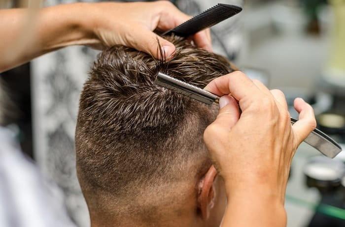 thinning hair with razor