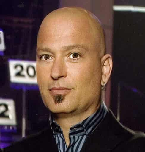 Photo of Howie Mandel bald head.