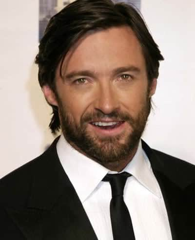 Jackman side parted hairstyle