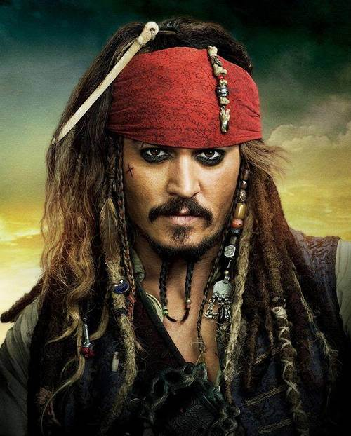 Picture of Jack Sparrow hairstyle.