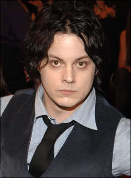 Jack White medium layered hairstyle