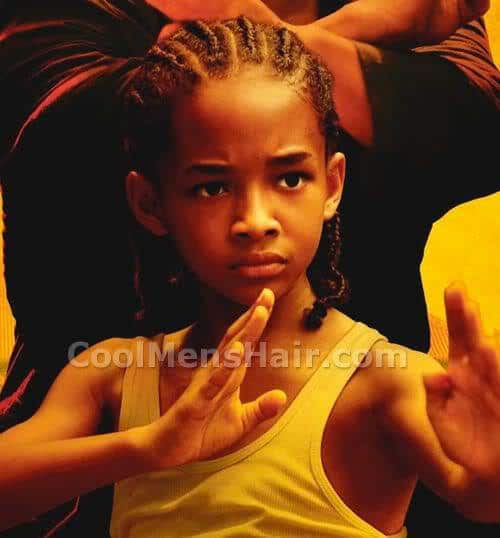 Photo of Jaden Smith cornrows hairstyle in The Karate Kid.