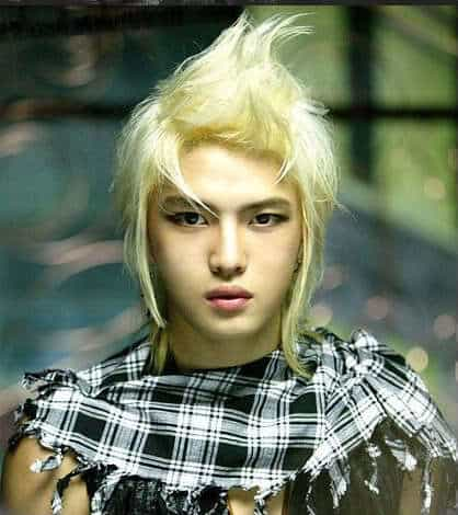 Korean fohawk hairstyle from JaeJoong
