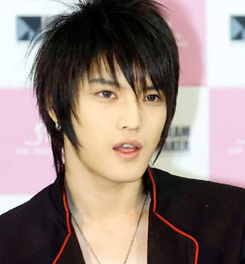 Cool Korean hairstyle from Kim Jae Joong