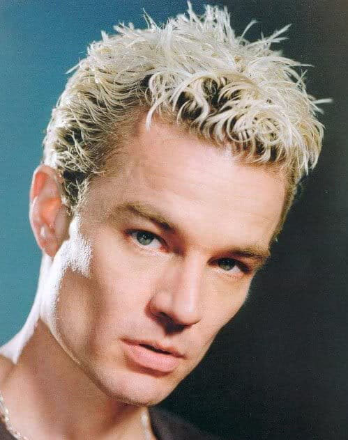 James Marsters bleached blonde hairstyle.