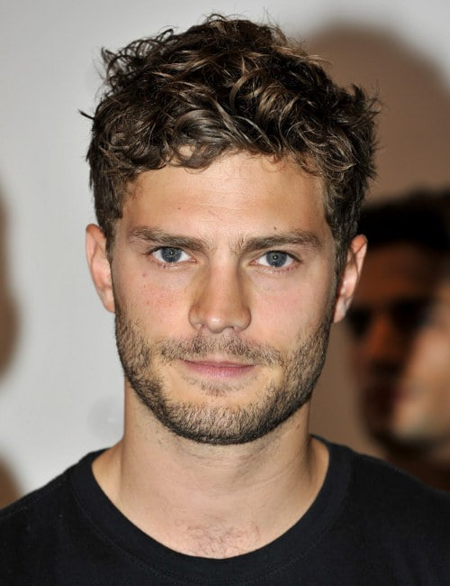 Jamie Dornan short bed-headed hairstyle