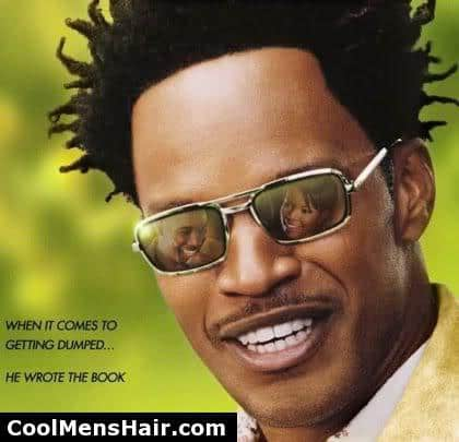 Photo of Jamie Foxx African American twist hair.