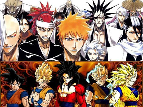 Image of Japanese anime hairstyles.