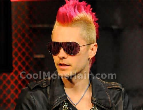 Jared Leto mohawk hairstyle.